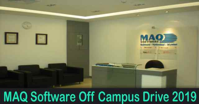 MAQ Software Off Campus Drive 2019