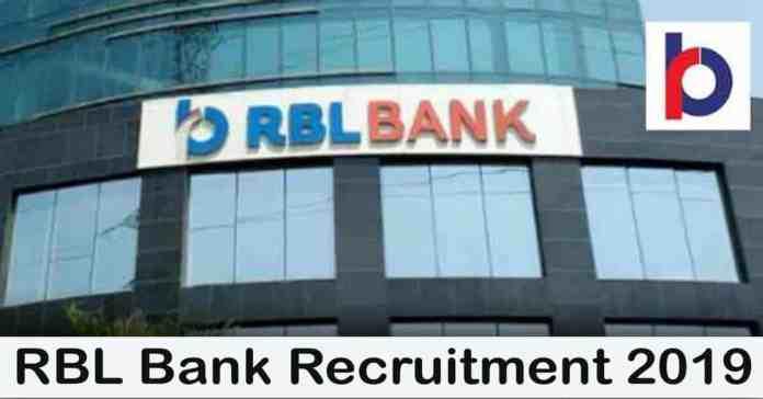 RBL Bank Recruitment 2019 – Apply 2000+ Fresher job Openings
