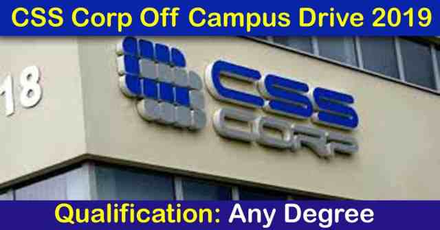 CSS Corp Off Campus Drive 2019