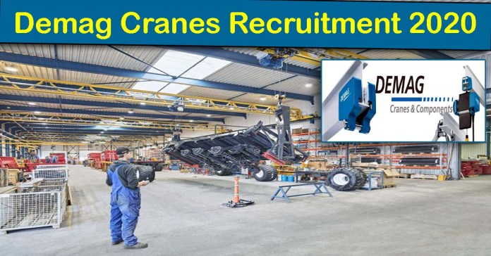 Demag Cranes Recruitment 2020: 100+ Fresher & experienced Job Openings