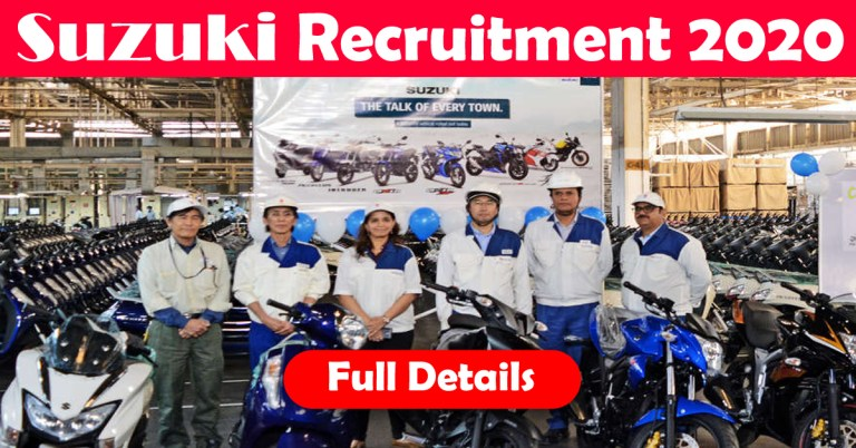 Suzuki Motorcycle Recruitment 2020: 100+ Fresher & experienced Job Openings