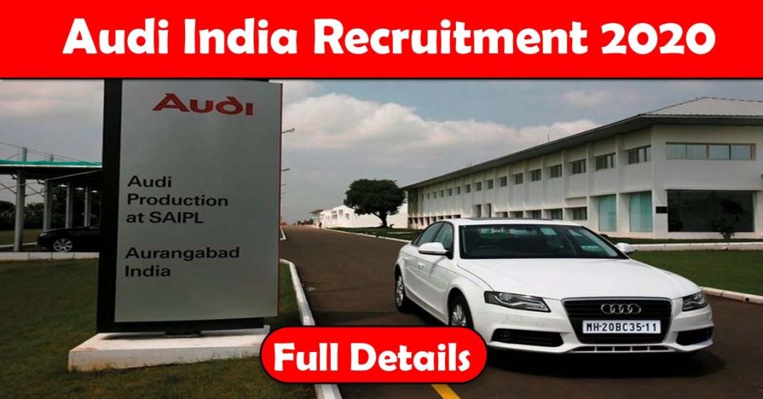 Audi India Recruitment