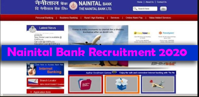 Nainital Bank Recruitment 2020 – Apply various Fresher job Openings