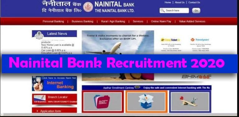 Nainital Bank Recruitment 2020 – Apply various Fresher job Openings