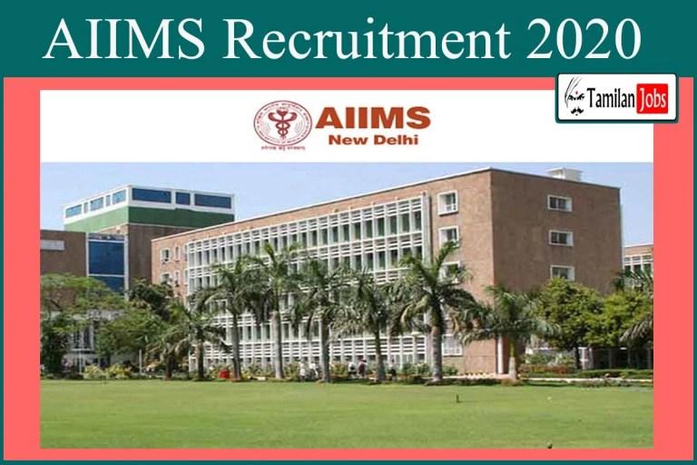AIIMS Recruitment 2020 Out – Scientist – B Jobs