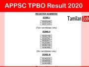 APPSC TPBO Result 2020