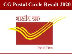 CG Postal Circle Result 2020