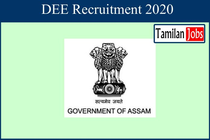 DEE Assam Recruitment 2020 Out – Apply Online 5043 Assistant Teacher Jobs
