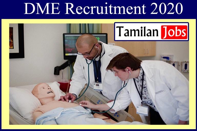 DME Recruitment 2020 Out – 399 Lab Attendant Jobs