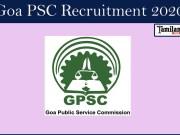 Goa PSC Recruitment 2020