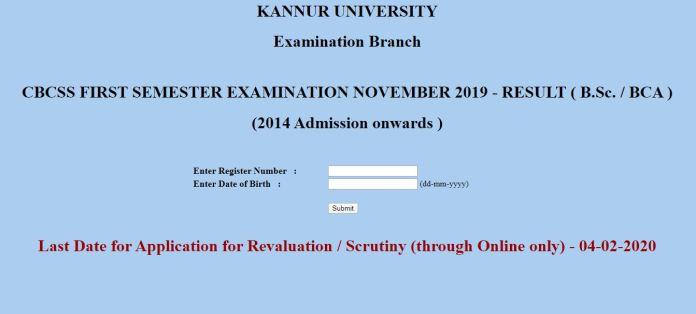 Kannur University(KU) Results 2020 OUT | Kannur University B.A., B.Sc., BBA Results Download