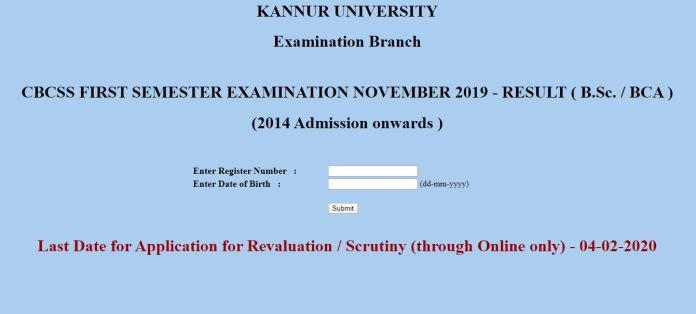 Kannur University (KU) Results 2019