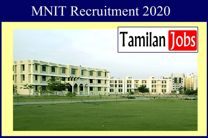 MNIT Recruitment 2020 Out – Apply Faculty Jobs