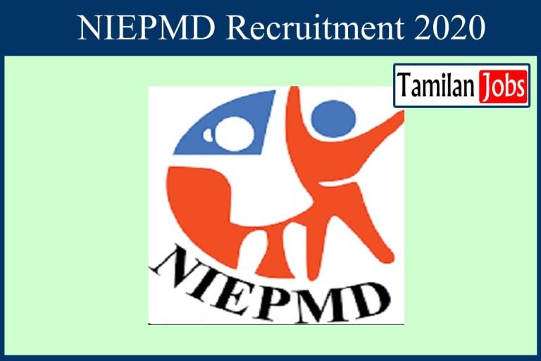 NIEPMD Recruitment 2020 Out – Apply 6 Consultant, Junior Consultant Jobs