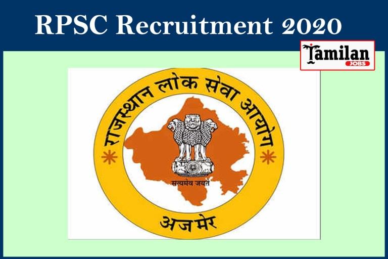 RPSC Recruitment 2020 Out – Apply 918 Assistant Professor Jobs