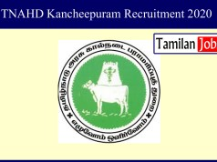 TNAHD Kancheepuram Recruitment 2020