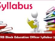 TRB Block Education Officer Exam Pattern 2020
