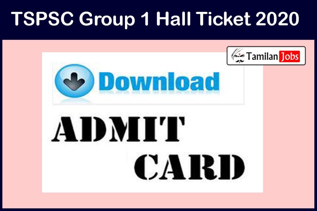 TSPSC Group 1 Admit Card2020
