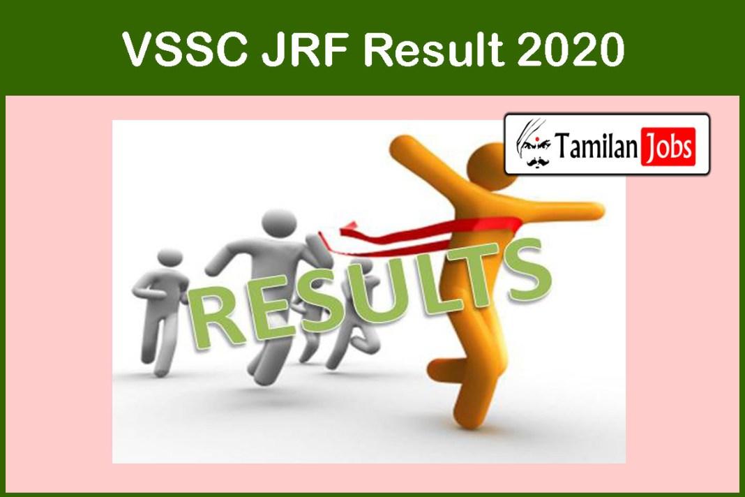 VSSC JRF Result 2020
