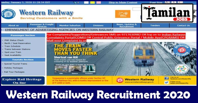 Western Railway Recruitment 2020 Out – 10th, Diploma, B.Sc, MBBS Candidates Apply For 177 CMP (CDMO) Jobs