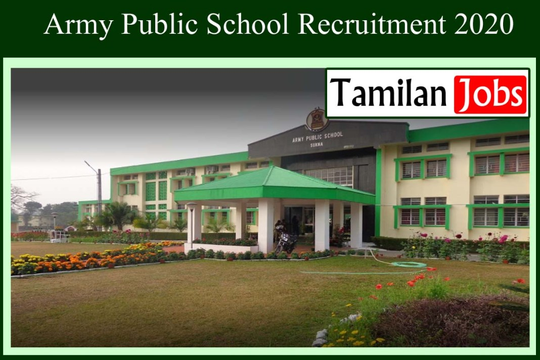 Army Public School Recruitment 2020