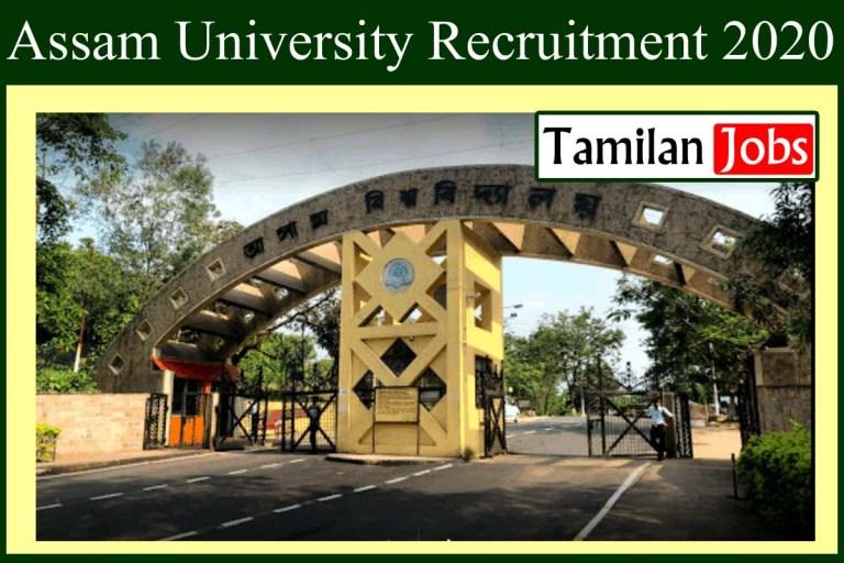 Assam University Recruitment 2020 Out – Apply 73 Professor Jobs
