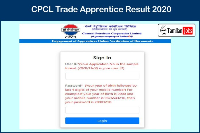 CPCL Trade Apprentice Result 2020 Out | Download DV Selection List
