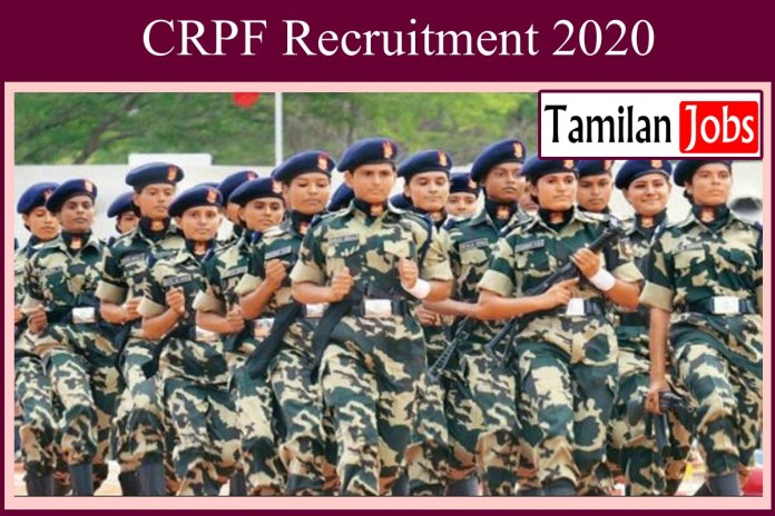 CRPF Recruitment 2020 Out – 1412 Head Constable Jobs
