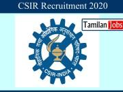 CSIR Recruitment 2020