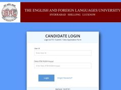 EFLU Admit Card 2020