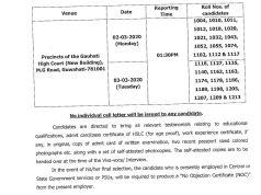 Gauhati High Court Law Clerk Result 2020