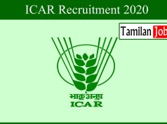 ICAR Recruitment 2020