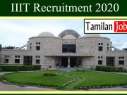 IIIT Recruitment 2020