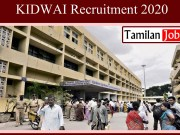 KIDWAI Recruitment 2020