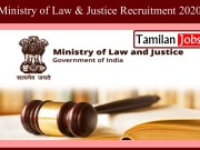 Ministry of Law & Justice Recruitment 2020