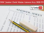 OSSC Junior Clerk Mains Answer Key 2020 PDF