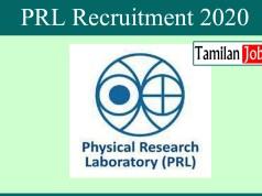 PRL Recruitment 2020