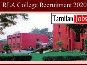 RLA College Recruitment 2020