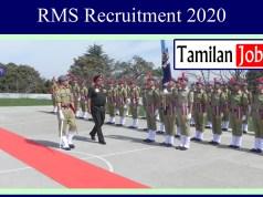 RMS Recruitment 2020