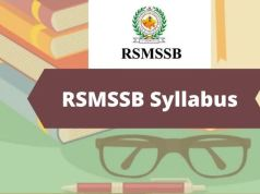 RSMSSB Pharmacist Syllabus 2020 Download PDF