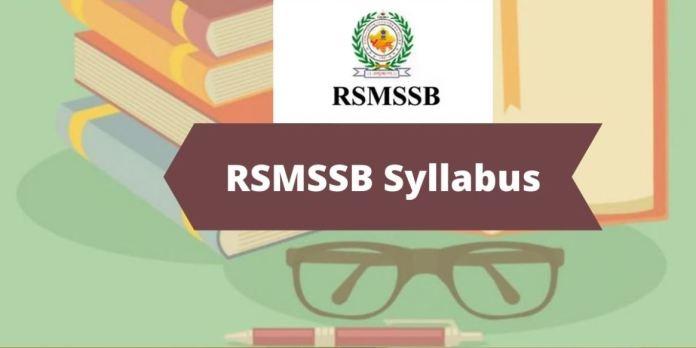 RSMSSB Pharmacist Syllabus 2020 Download PDF