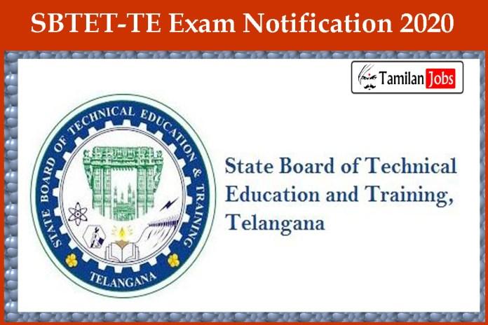 SBTET-TE Exam Notification