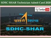 SDSC SHAR Technician Admit Card 2020