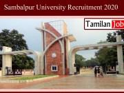 Sambalpur University Recruitment 2020