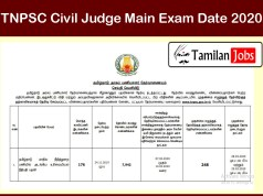 TNPSC Civil Judge Main Exam Date 2020