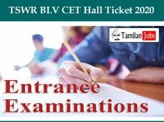 TSWR BLV CET Hall Ticket 2020