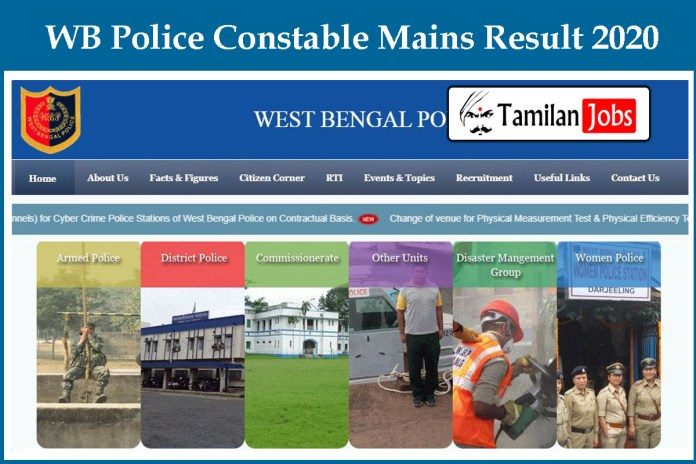 WB Police Constable Mains Final Result 2020 OUT – Check Cut Off Marks, Merit List