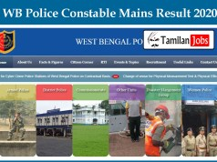 WB Police Constable Mains Result 2020