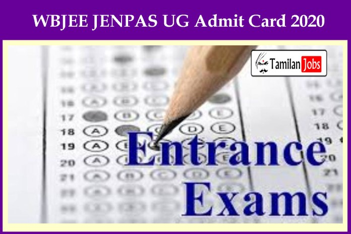 WBJEE JENPAS UG Admit Card 2020 Declared Soon | Check Exam Date Here