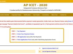 AP ICET Hall Ticket 2020